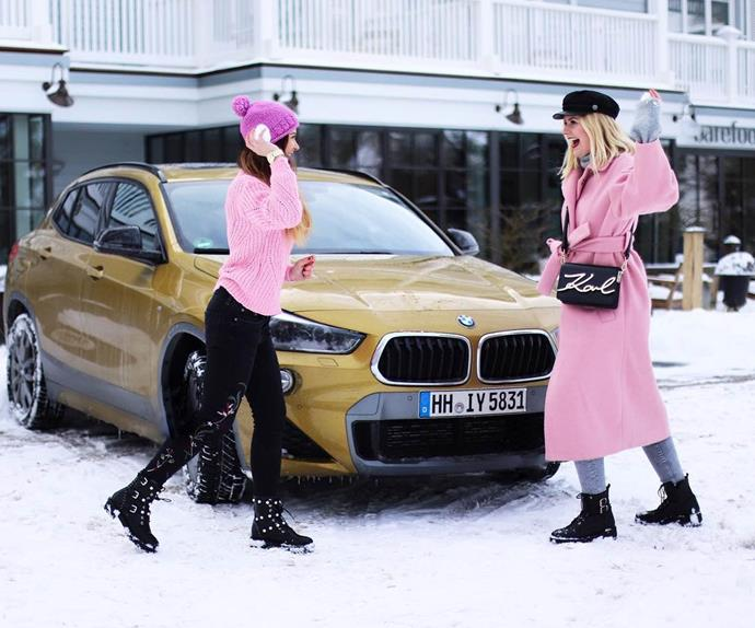 Influencer Tatjana Witte and a BMW.