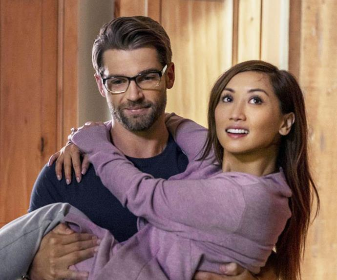 Brenda Song and Mike Vogel in Netflix's Secret Obsession.