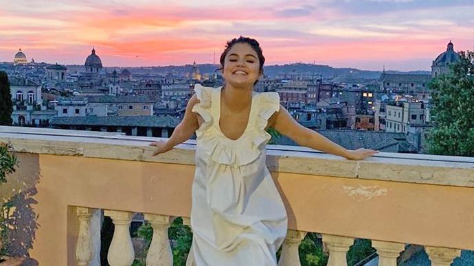 Selena Gomez on vacation in Italy.