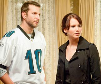 Bradley Cooper and Jennifer Lawrence in Silver Linings Playbook.