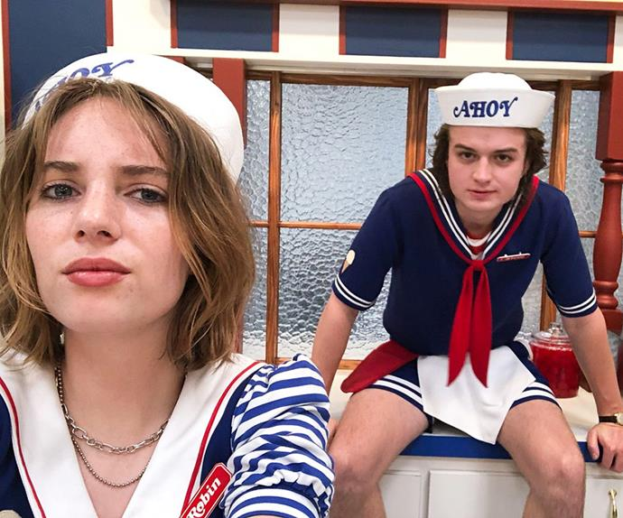 Steve Harrington and Robin in 'Stranger Things' 3.