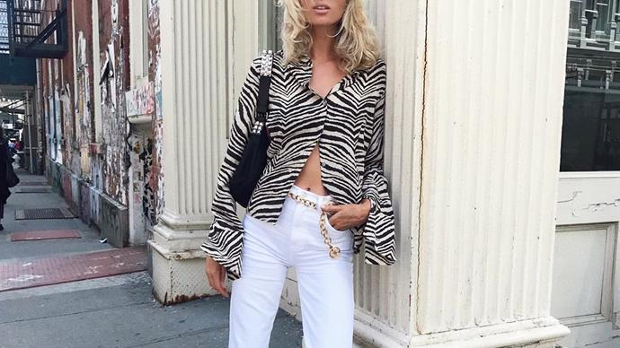 Belt chains at fashion week.