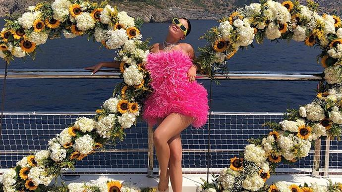 Kylie Jenner at her 22nd birthday in Positano.