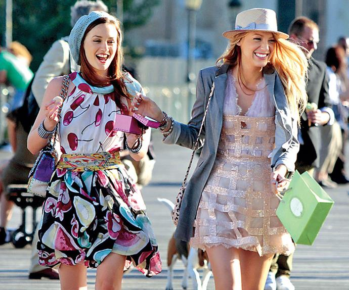 Blair and Serena from Gossip Girl.