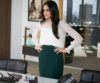 Meghan Markle's character Rachel Zane in Suits.