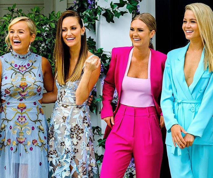 The Bachelor Australia contestants Elly, Emma, Chelsie and Helena.
