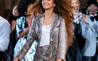 Zendaya at the Tommy Hilfiger show at New York Fashion Week 2019.