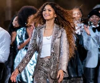 Zendaya at the Tommy Hilfiger show at New York Fashion Week 2019.