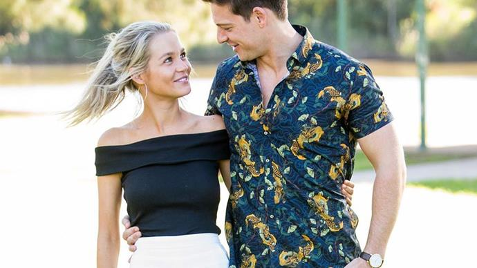 Helena Sauzier and Matt Agnew from 'The Bachelor' Australia.