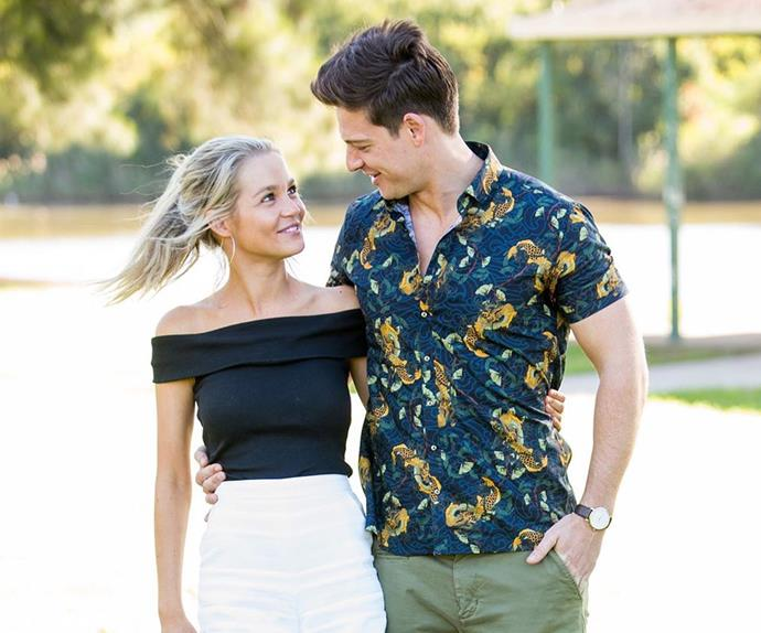 Helena Sauzier and Matt Agnew from 'The Bachelor' Australia.