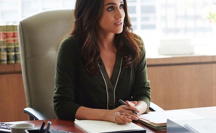 Meghan Markle as Rachel Zane in 'Suits'.