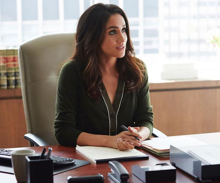 Meghan Markle as Rachel Zane in 'Suits'.