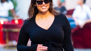 Pregnant Ashley Graham Shows Off Impressive Flexibility With Yoga Pose And We're In Awe