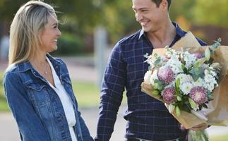 Helena Sauzier and Matt Agnew from The Bachelor Australia.