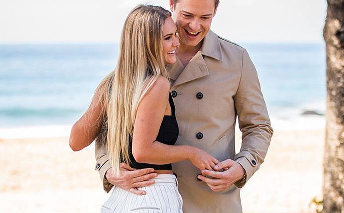 Chelsie McLeod and Matt Agnew from The Bachelor Australia.