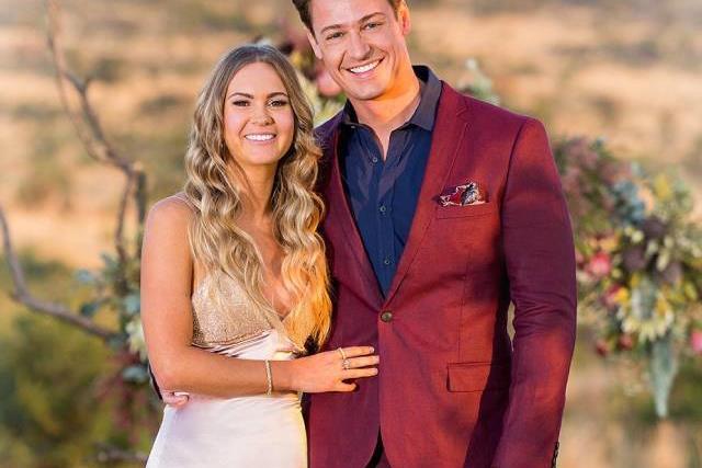 Chelsie and Matt from 'The Bachelor' Australia 2019.