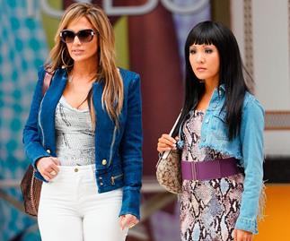 Jennifer Lopez and Constance Wu in 'Hustlers'.