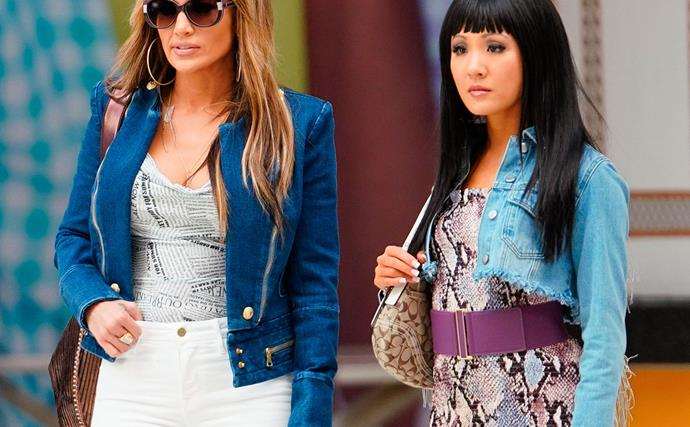 Jennifer Lopez and Constance Wu in 'Hustlers'.