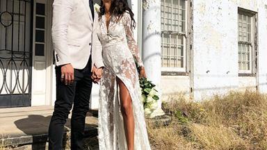 ELLE Weddings: This Bride's Sheer Dress Was A Vintage Find