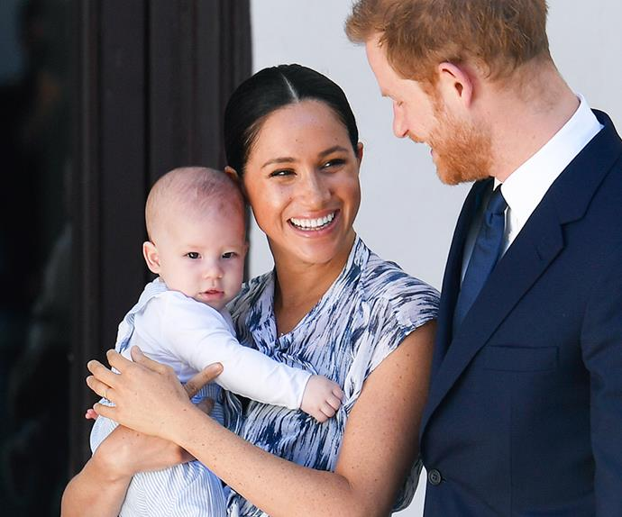 Meghan Markle and baby Archie.