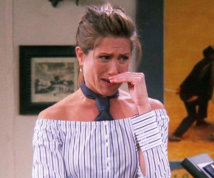 Rachel Green crying in Friends.