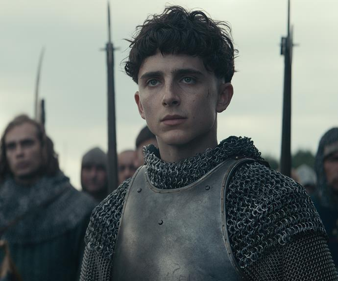 Timothée Chalamet in The King