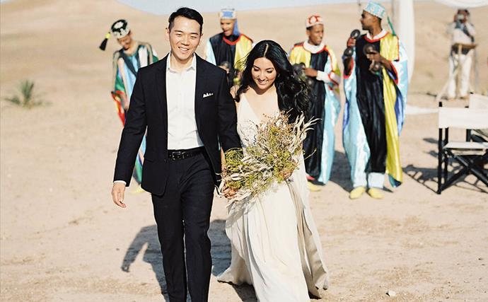 ELLE Weddings: This Bride Had The Dreamiest Desert Ceremony In The Middle Of Morocco