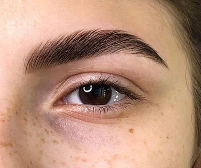 brow lamination feather brow