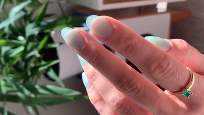seaglass nail art.