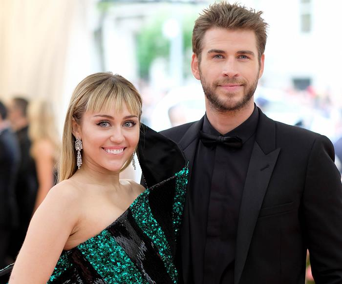 Miley Cyrus and Liam Hemsworth at 2019 Met Gala.