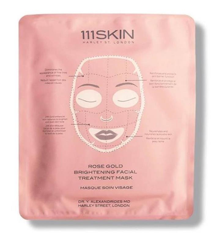 "**Rose Gold Mask by 111SKIN** <br><br> Few face masks can count 24 karat gold as an active ingredient, but that's not all this mask has to offer. Cult British brand 111SKIN's rose gold mask also incorporates acids, niacinamide and rose gold extract for further skin soothing. After cleansing and toning your face, apply the mask for 20 minutes, once a week. <br><br> *$36 for one mask at [MECCA](https://www.mecca.com.au/111skin/rose-gold-mask/V-034287.html|target=""_blank""