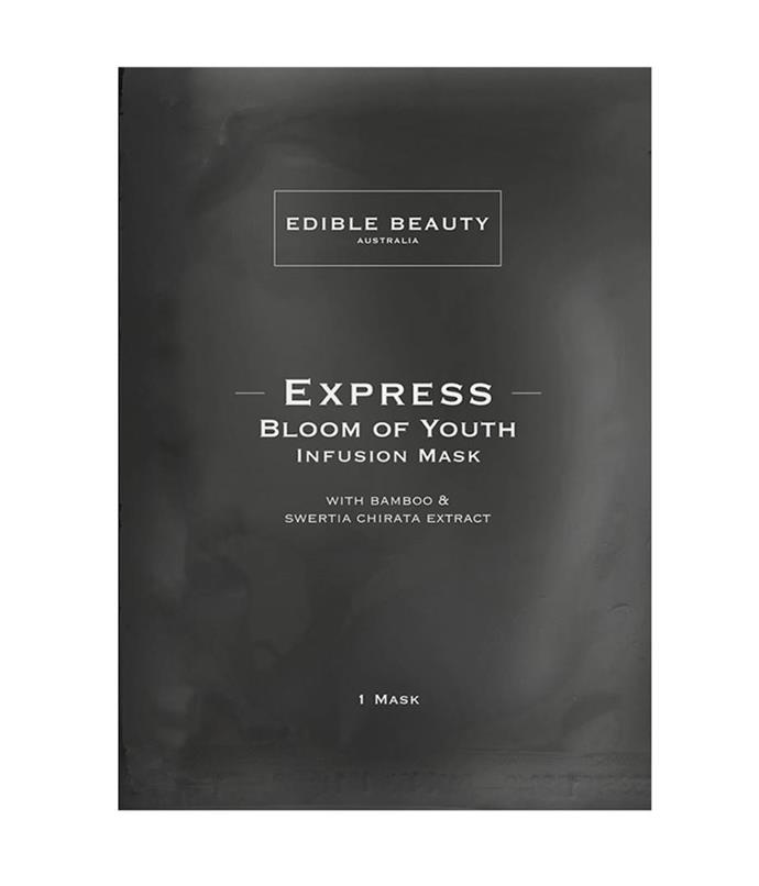 "**Bloom of Youth Infusion Mask by Edible Beauty** <br><br> Taking anti-ageing to a new level, this beauty-boosting sheet mask comes embedded with active ingredients including hyaluronic acid, bamboo extract, ribose and swertia chirata. Australian lime caviar and pomegranate work together to naturally brighten and illuminate skin tone. Use for 15-20 once a week. If skin needs an extra boost, place the sheet mask into the refrigerator 15 minutes prior to application.<br><br> *$59 at [Sephora](https://www.sephora.com.au/products/edible-beauty-bloom-of-youth-infusion-mask/v/default|target=""_blank""