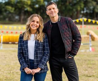 Osher Günsberg and Angie Kent from 'The Bachelorette' Australia 2019.