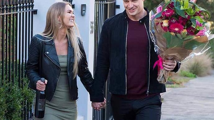 The Bachelor Australia's Matt Agnew and Chelsie McLeod.