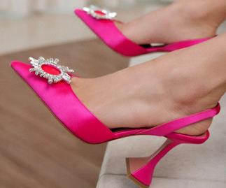 Amina Muaddi shoes.