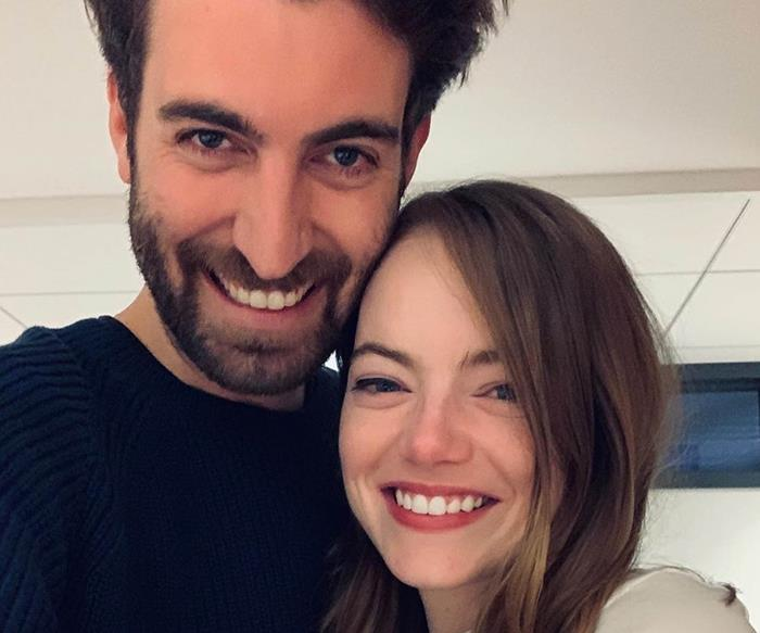 Emma Stone and Dave McCary.