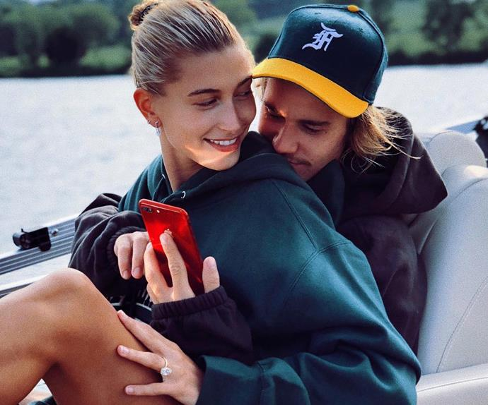 Justin and Hailey Bieber.