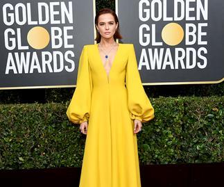 Zoey Deutch at the 2020 Golden Globes.