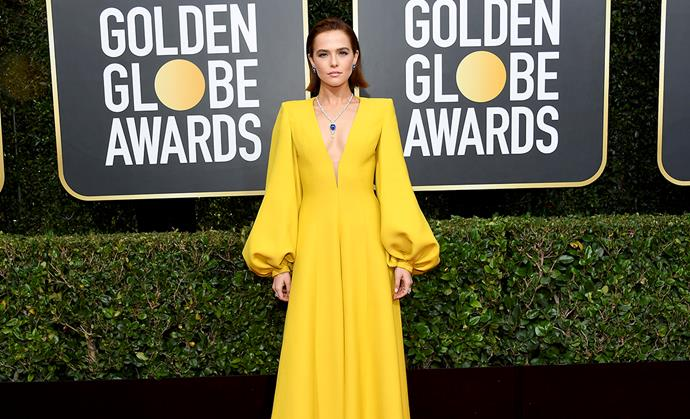 Zoey Deutch at the 2020 Golden Globes.