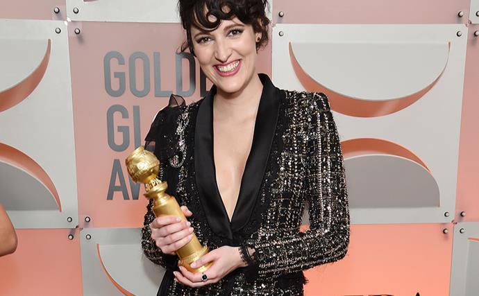 Phoebe Waller-Bridge at the 2020 Golden Globe Awards.