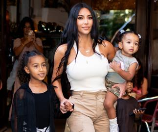 Kim Kardashian West with North and Chicago.