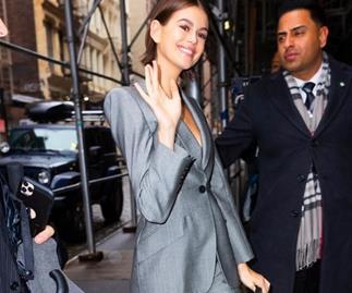 Kaia Gerber Backless Suit