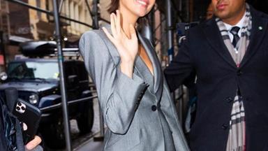Life Hack: Wear A Backless Suit Like Kaia Gerber