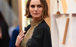 Natalie Portman in Dior at the 2020 Oscars.