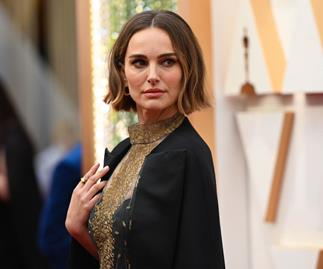 Natalie Portman in Dior at the 2020 Oscars.