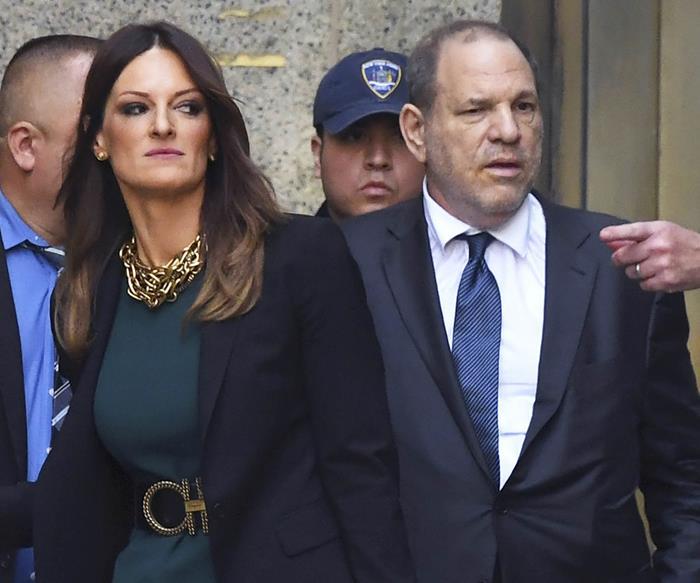Donna Rutunno and Harvey Weinstein.