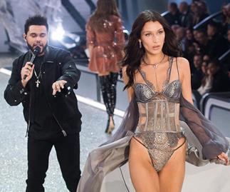 Bella Hadid and The Weeknd.