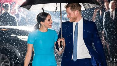 Meghan Markle Wears Blue Victoria Beckham Dress At Endeavour Fund Awards With Prince Harry