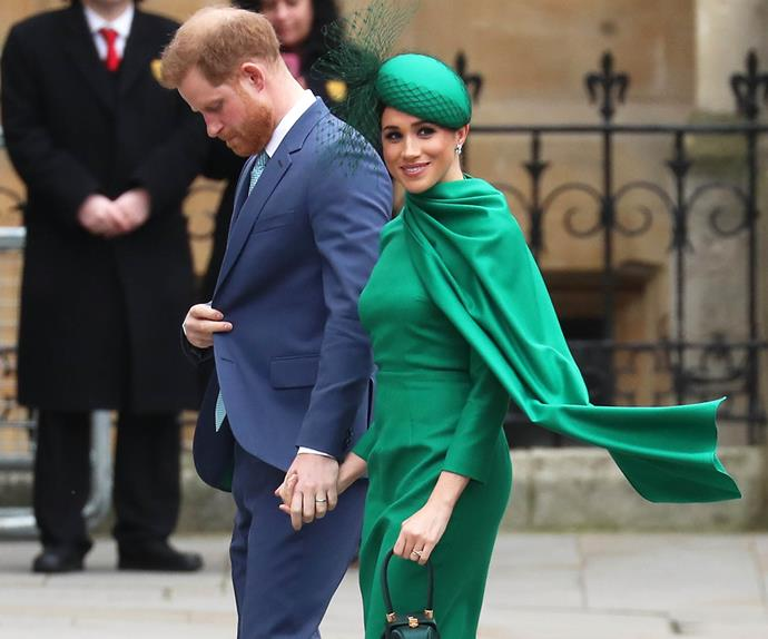 Meghan Markle and Prince Harry at their final royal engagement.