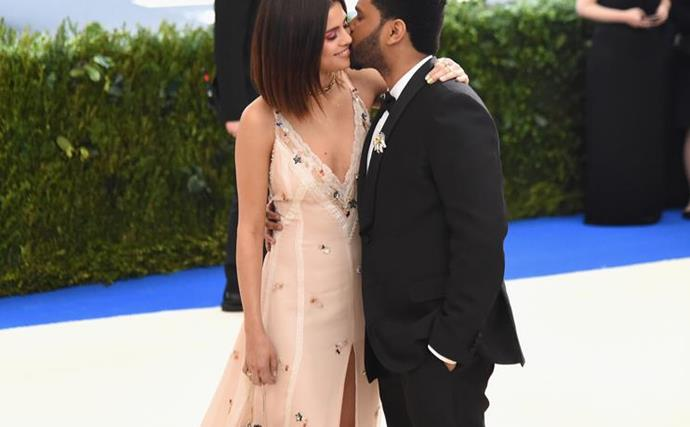 Selena Gomez and The Weeknd at the 2017 Met Gala.